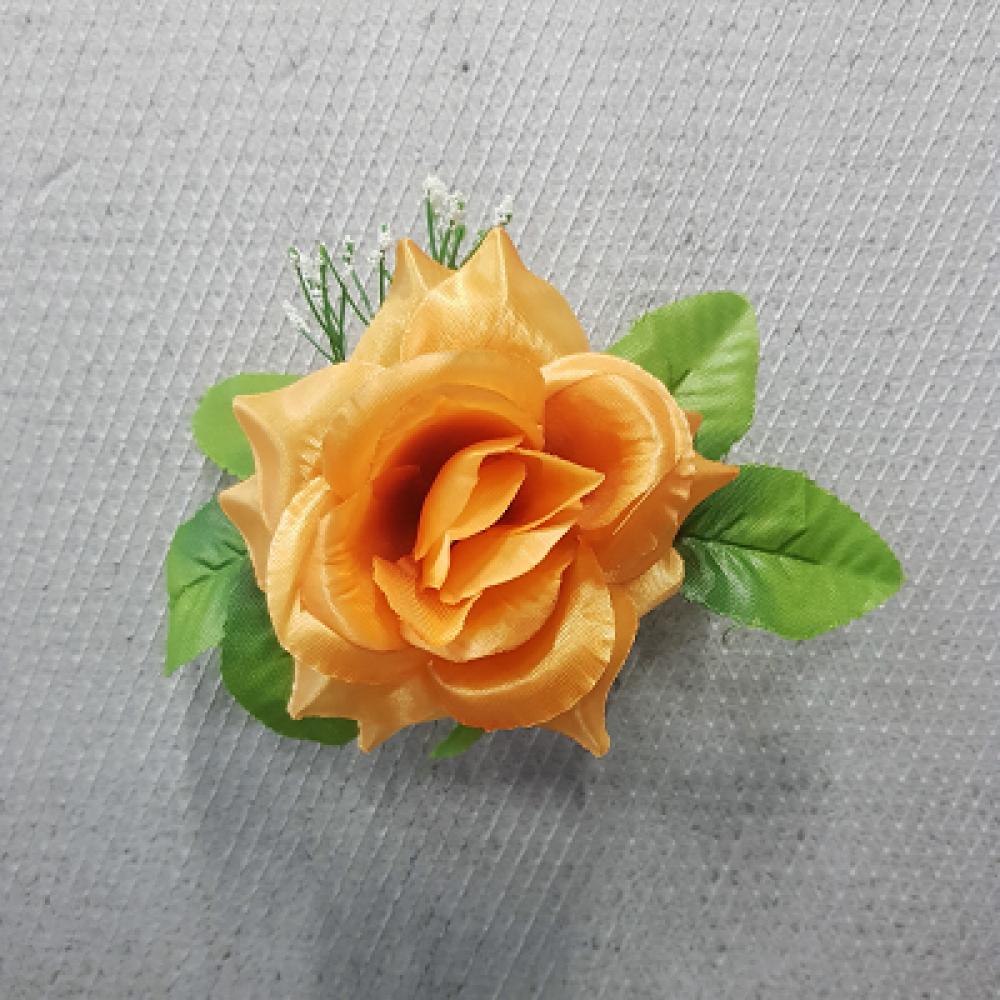 Ruža rozvinutá s listom a gypsomilou / 1041
