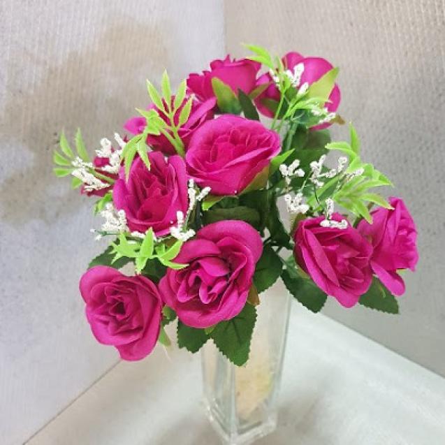 1098 Kytica ruža x 5  - 23cm / H098