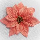1118-01 Vianočná ruža satén Orange 15cm