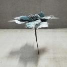 15109 Vianočná ruža pick Blue 21cm