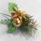 1874-01  Vianočná zapichovačka Gold 22cm