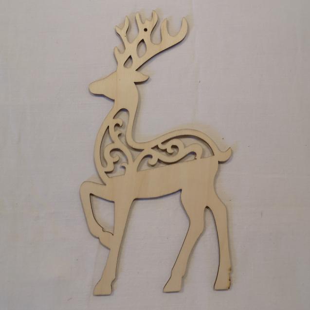 Vianočná drev. dekorácia Jelenček / 2701