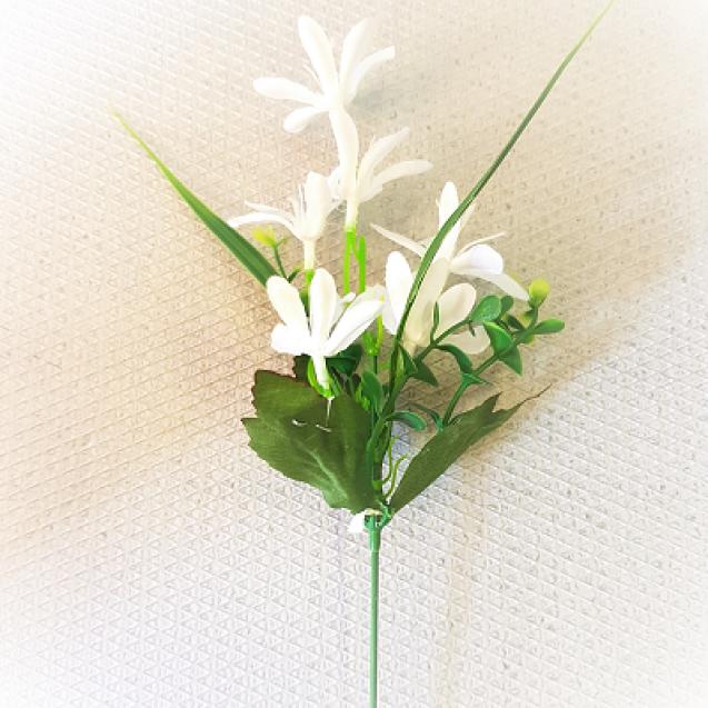 161601 Poľný kvet - zapichovačka  White 45cm